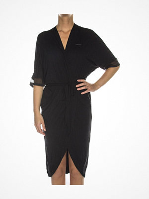 Morgonrockar - Calvin Klein Sculpted Robe Black