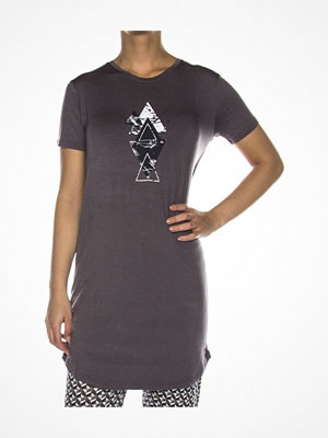 Nattlinnen - Femilet Lima Big Shirt Short Sleeve Warmgrey