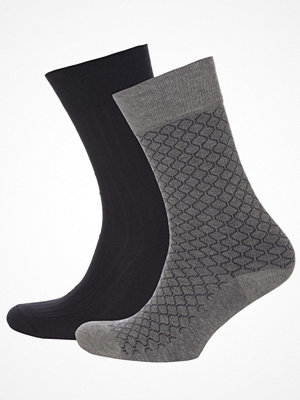 Strumpor - Tiger of Sweden 2-pack Romsey Socks Black/Grey