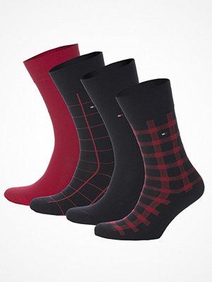 Strumpor - Tommy Hilfiger 4-pack Men Sock Cabin Box Red
