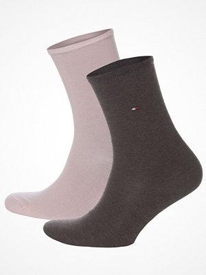 Strumpor - Tommy Hilfiger 2-pack Women Classic Casual Socks  Brown/pink