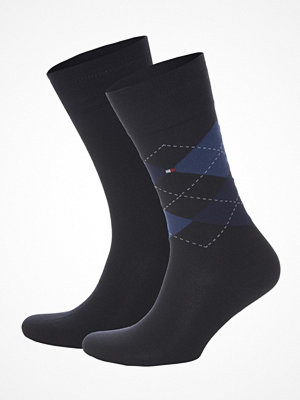 Tommy Hilfiger 2-pack Men Sock Check Navy/Blue