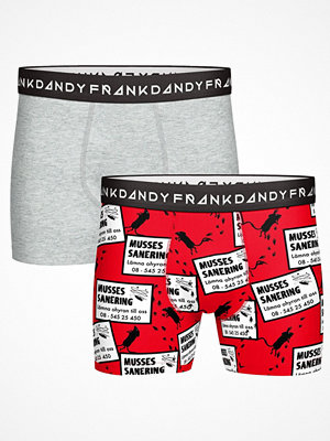 Frank Dandy 2-pack Musses Boxer  Grey/Red