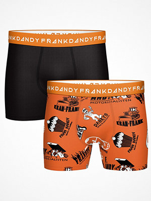 Frank Dandy 2-pack Small Business Boxer  Black/Orange