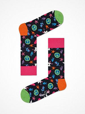 Strumpor - Happy Socks Happy Socks Peace and Love Sock Black pattern-2