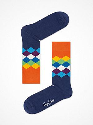 Strumpor - Happy Socks Happy Socks Faded Diamond Sock Blue/Orange