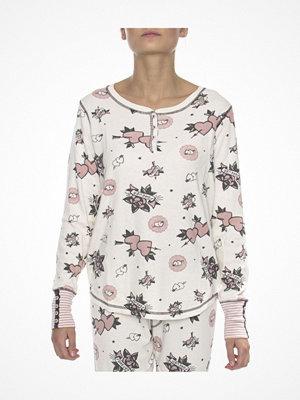 Pyjamas & myskläder - P-J Salvage Long Sleeve Top White Pattern-2