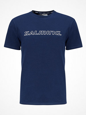 Pyjamas & myskläder - Salming Marvin Short Sleeve Logo Tee Navy-2