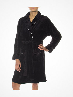 Missya Tula Short Fleece Robe Black