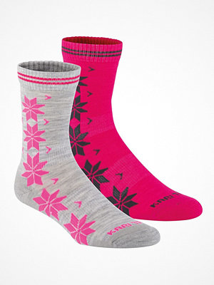 Kari Traa 2-pack Vinst Wool Sock Grey/Pink