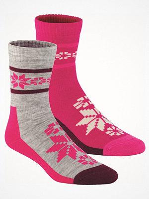 Strumpor - Kari Traa 2-pack Rusa Wool Sock Grey/Pink