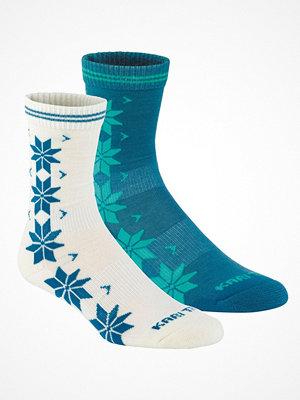 Strumpor - Kari Traa 2-pack Vinst Wool Sock White/Turquois
