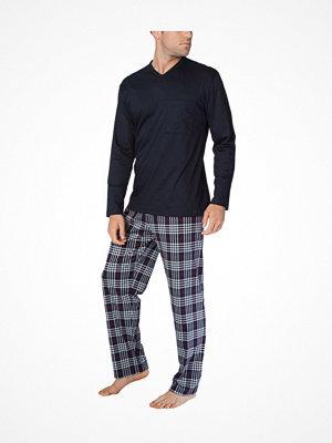 Pyjamas & myskläder - Calida Sean Pyjama  Navy Checked