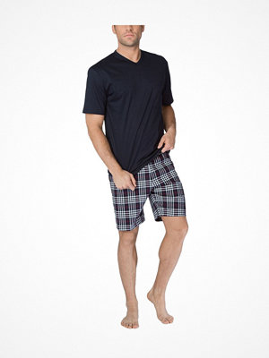Pyjamas & myskläder - Calida Sean Short Pyjama  Navy Checked
