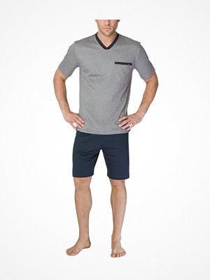 Pyjamas & myskläder - Calida Louis Short Pyjama  Navy/Grey