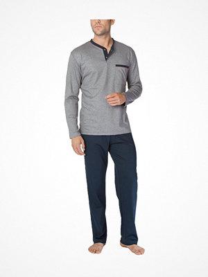 Pyjamas & myskläder - Calida Louis Pyjama  Navy/Grey