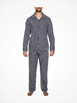 Pyjamas & myskläder - Rayville Mick Pyjamas Solid Pencil Stripe Navy Striped