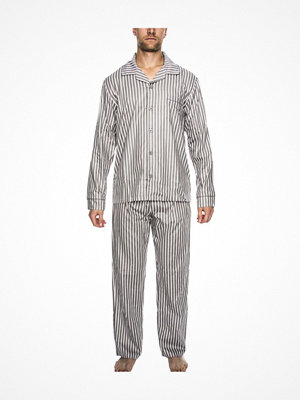 Pyjamas & myskläder - Rayville Mick Pyjamas Solid Pencil Stripe Greystriped