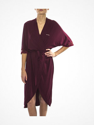 Morgonrockar - Calvin Klein Sculpted Robe Wine red