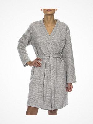 Morgonrockar - Calvin Klein Quilted Robe Grey
