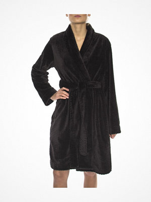 Morgonrockar - Calvin Klein Fluffy Robe Black