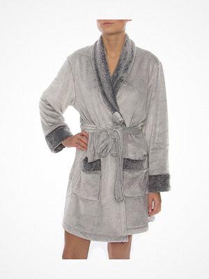 DKNY Signature Short Robe Grey