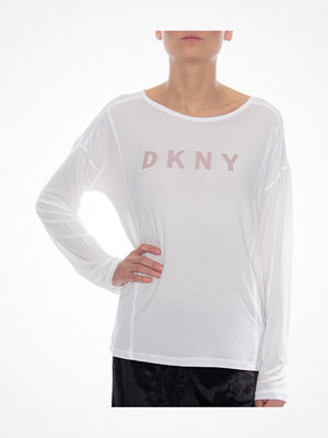 DKNY Elevated Leisure LS Top White