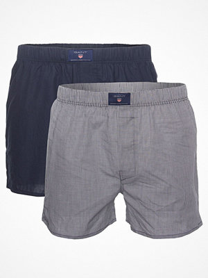 Gant 2-pack Woven Boxers Shorts Blue Pattern