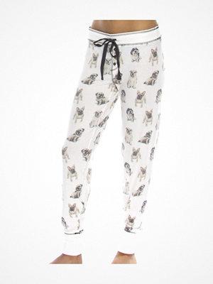 Pyjamas & myskläder - P-J Salvage Dogs On Display Banded Pant White Pattern-2