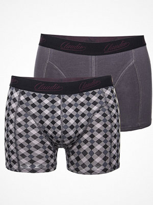 Claudio 2-pack Mens Trunk Grey/Checked