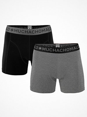 Muchachomalo 2-pack Solid Boxer Black/Grey