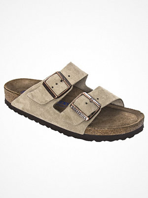 Birkenstock Arizona Suede Leather Soft Footbed Beige