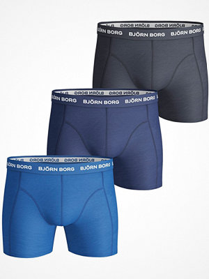 Kalsonger - Björn Borg 3-pack Essential Shorts Navy/Blue