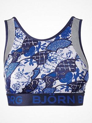 Björn Borg Porcelain Shade High Neck Soft Top  Blue Pattern