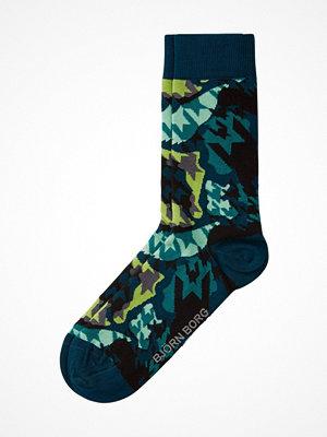 Strumpor - Björn Borg Houndtooth Socks Green Pattern