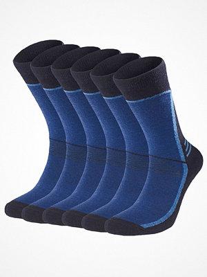 Strumpor - Pierre Robert 6-pack For Men Sport Wool Socks Navy-2
