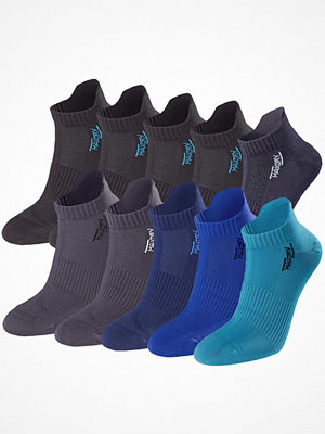 Strumpor - Pierre Robert 10-pack Low Cut Socks Men Mix Blue/Grey
