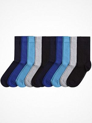 Strumpor - Björn Borg 10-pack Basic Solid Socks Black/Blue