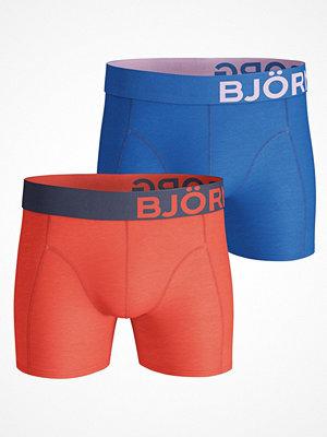 Kalsonger - Björn Borg 2-pack Seasonal Solid Shorts Blue/Orange