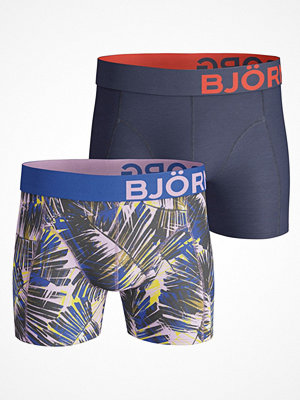 Kalsonger - Björn Borg 2-pack Summer Palm Shorts Navy/Blue