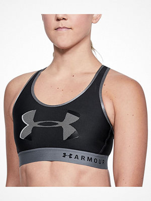 Under Armour Mid Keyhole Big Logo Sports Bra Black