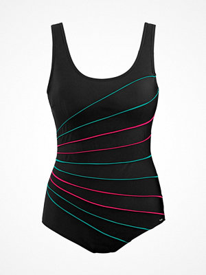 Abecita Action Lines Swimsuit Black/Green