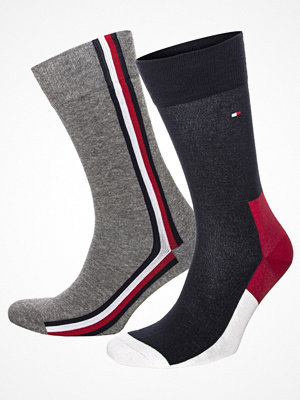 Tommy Hilfiger 2-pack Men Iconic Hidden Socks Grey/Blue