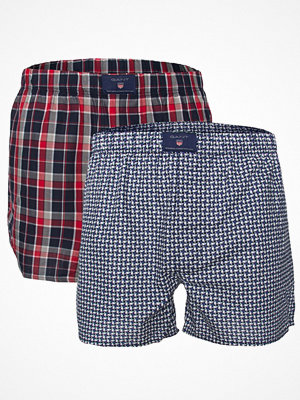 Gant 2-pack Winter Star Woven Boxer Shorts Red Pattern-2