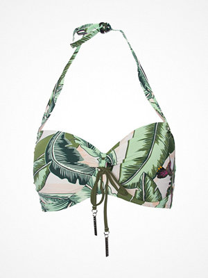Seafolly Palm Beach Soft Cup Halter Bikini Top Green Pattern