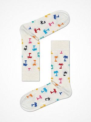 Strumpor - Happy Socks Happy Socks Palm Beach Sock White Pattern-2