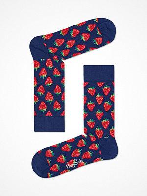 Strumpor - Happy Socks Happy Socks Strawberry Sock Blue Pattern