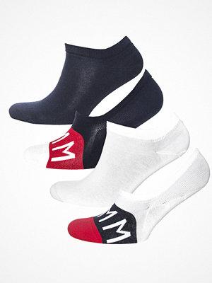 Strumpor - Tommy Hilfiger 4-pack Unisex Holiday Sneaker Socks Box White/Navy