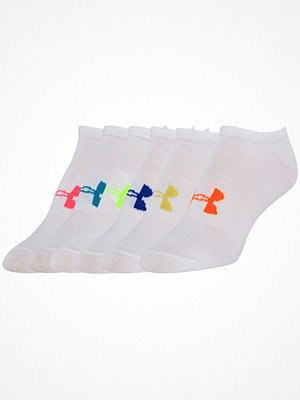 Under Armour 6-pack Solid No Show Socks White