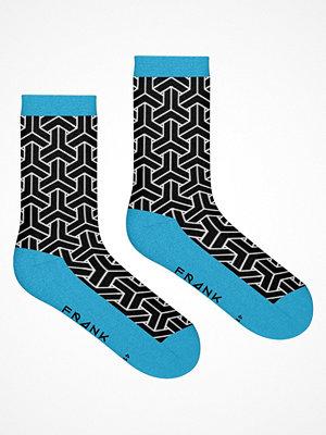 Frank Dandy Bamboo Crew Socks Black/Blue